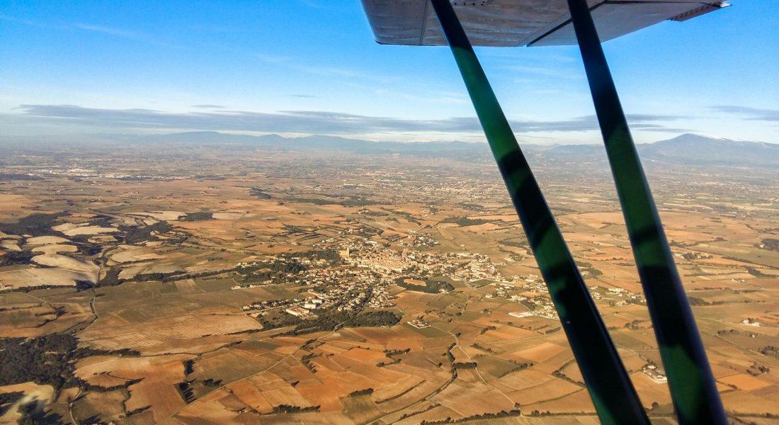 Baptême ULM au dessus des villages de Provence