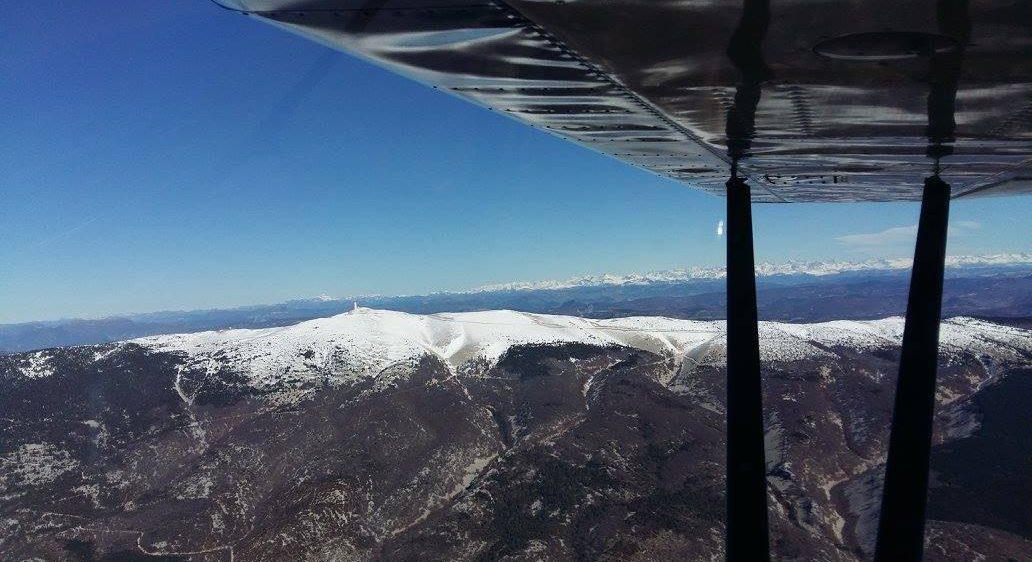 Vue d'avion du Mont Ventoux